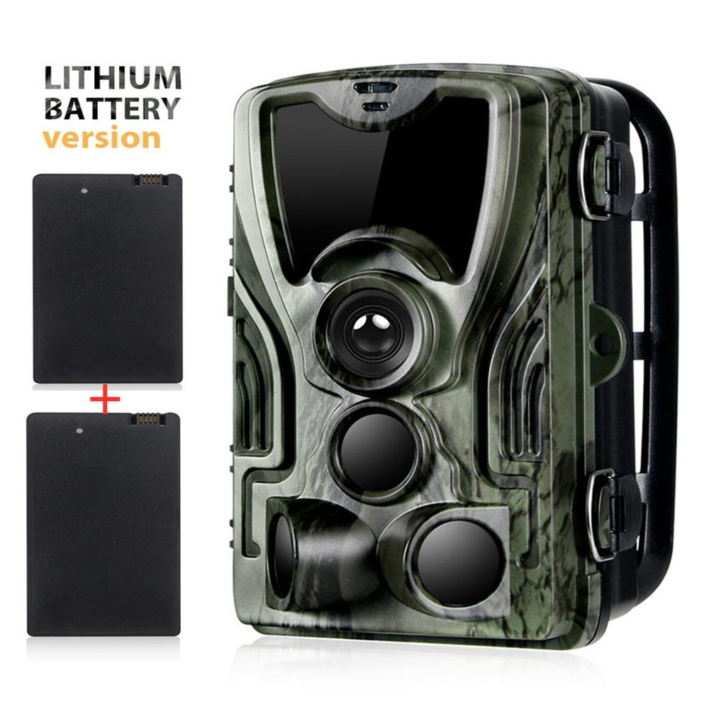 2PCS 5000Mah Recharger Lithium Battery Trail Hunting Camera 16MP HC801ALI 1080P IP65 Photo Traps 0.3s  Surveillance