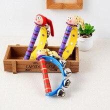 Новое поступление 2020, Деревянный Погремушка колокольчик, звуковая игрушка, музыкальный инструмент, подарок для ребенка, детские игрушки для веселья
