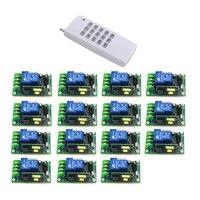315/433 мГц AC85V ~ 250 В rf 1ch 1000 м Широкий Напряжение Multi Функция rf Беспроводной переключатель системы 15 шт. переключатель 4326