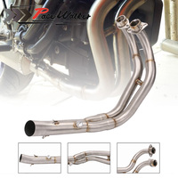Motorcycle Exhaust Modified Scooter Clamp On Motorbike Mid Pipe Slip On Muffler Exhaust Mid Pipe For Yamaha MT 07 MT07 MT 07