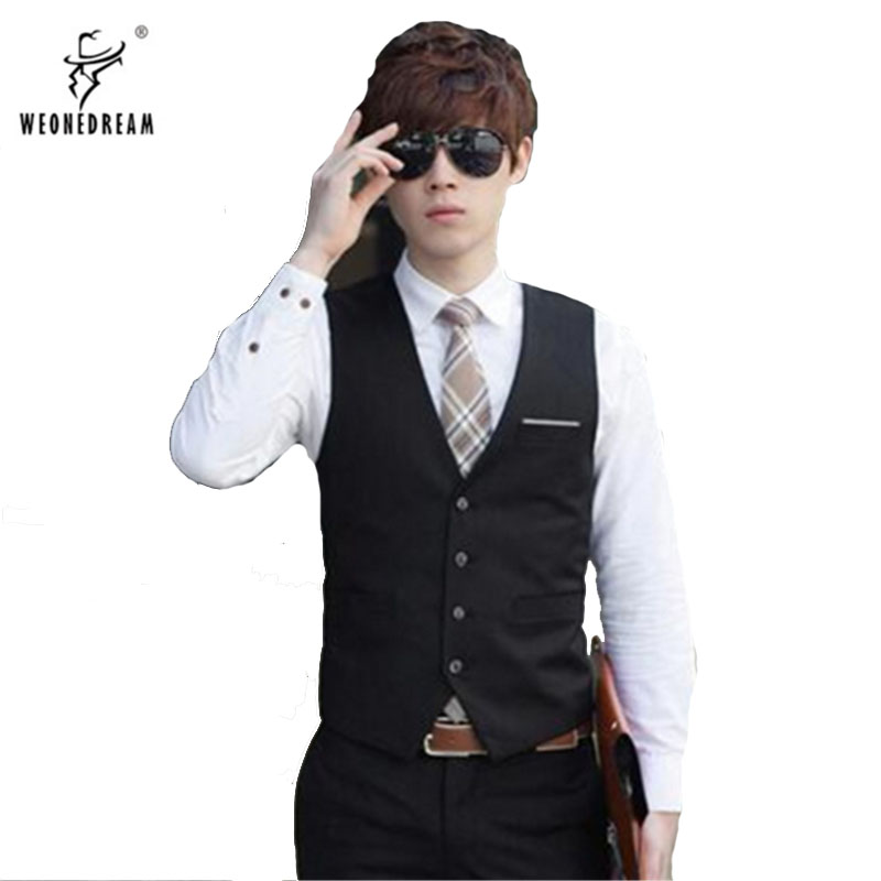 Dress Vest Black Suits Navy-Blue Bridegroom Gray Weddigs Business White for Party Slim-Fit