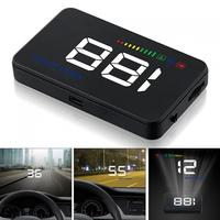12V 3.5 Inch Car HUD Head Up Display Speedometer OBD2 II EUOBD Auto Projector Parameter Display with Overspeed Warning function
