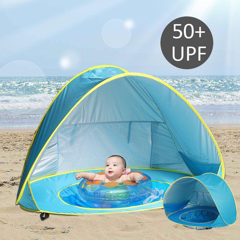 Uv Protecting Sunshelter Children's Tent Beach Kids Tent Tipi Waterproof Dry Pool Ball Pool Children's House Baby Beach Tents