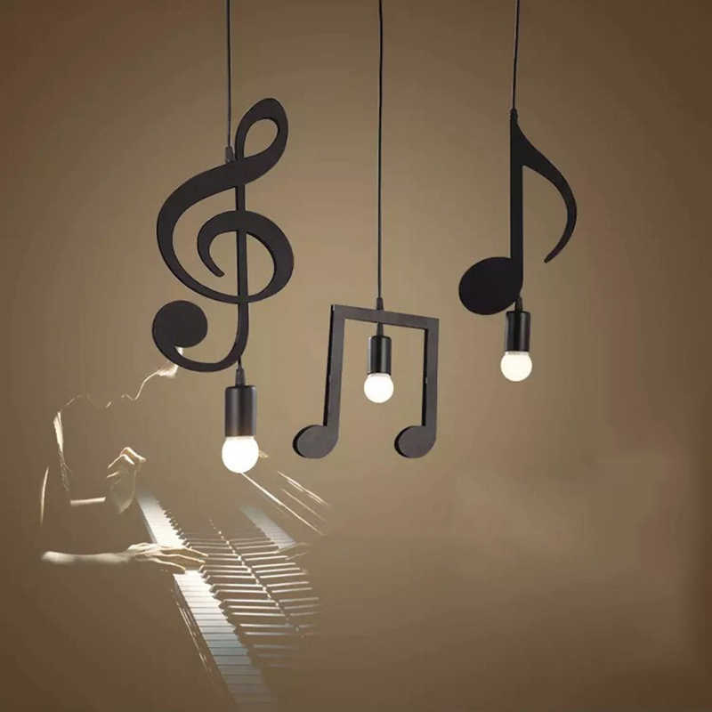 Feiemfeiyou A-Z слова музыка характер E27 творческий черный светодиодный подвесной светильник для бара спальня книгохранилище подвесной светильник в металлическом каркасе