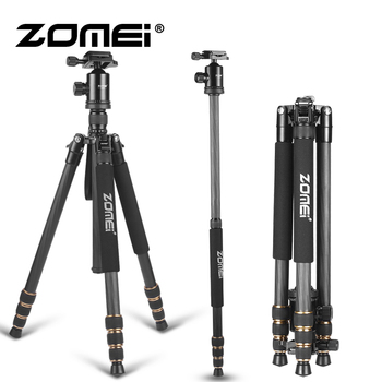 ZOMEI Carbon Fiber Professional Tripod Lightweight Mountaineering Travel Monopod Professional Photographic Camera Dedicate Stand
