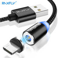 RAXFLY Micro USB Cable 1M 2M Magnetic Charger Cables for Xiaomi Redmi Note 7 5 4X Magnetic USB Charging Cable for Galaxy Note 10
