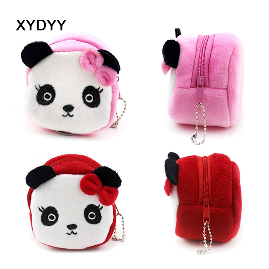 XYDYY New Panda Face Printing Coin Purse Cute Kids Cartoon Wallet Kawaii Bag Coin Pouch Children Purse Holder Women Coin Wallet