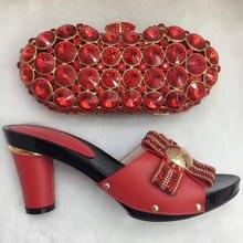 Top Verkauf gold Afrikanische Frauen Pumpen Mit Tasche, Um Mactch Beauty Schuhe Und Tasche Kostenloser Versand