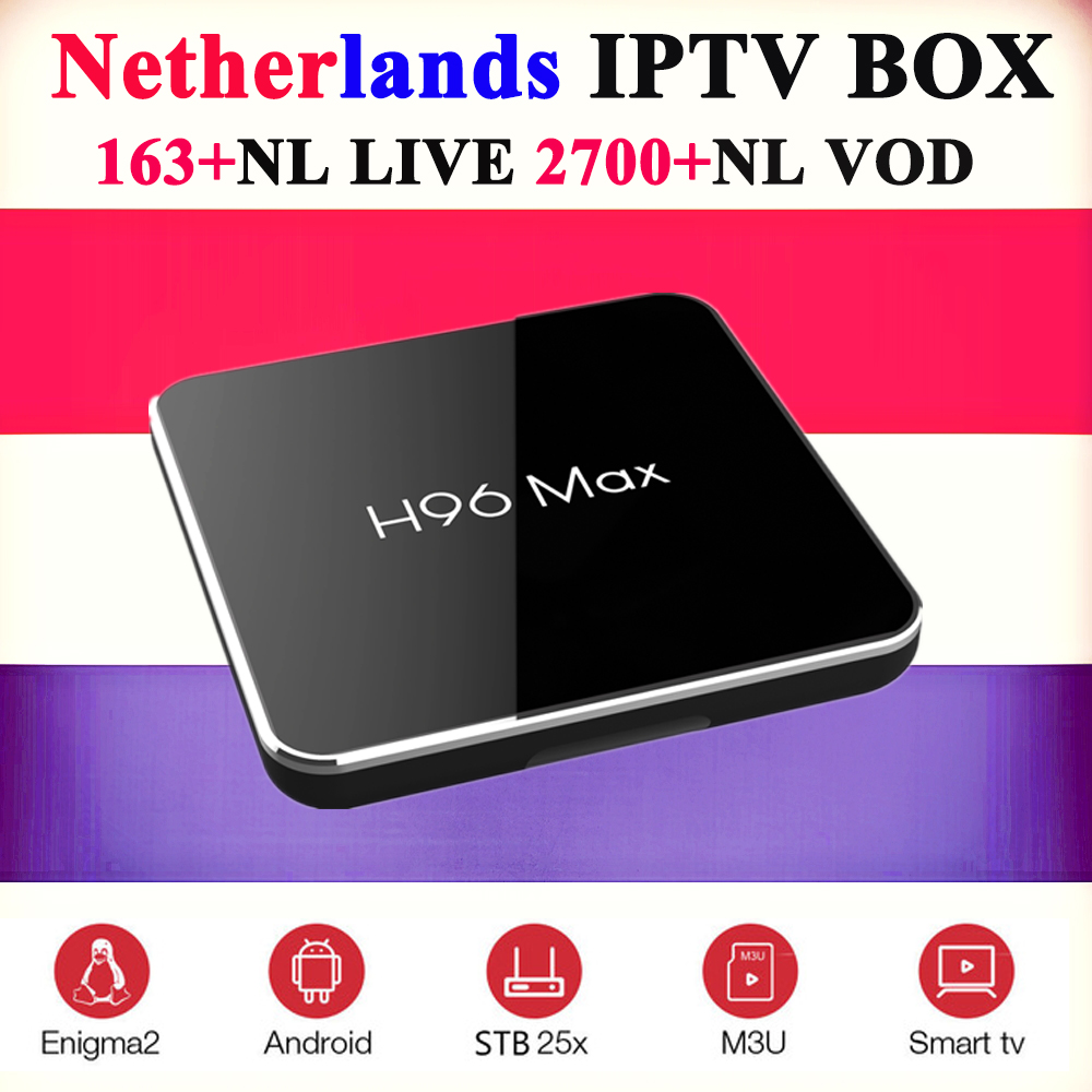 H96 max x2 4k dutch iptv android tv box france arabic uk sweden poland italy germany