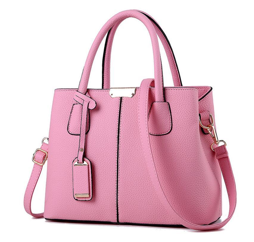 Pink Star Womens PU Leather Tote Shoulder Bags Handbags Casual Bag