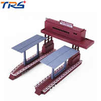 Plastic Model Train Station Railroad Layout General train accessories scene game model essential materials