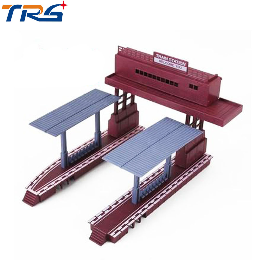 Plastic Model Train Station Railroad Layout General train accessories scene game model essential materials