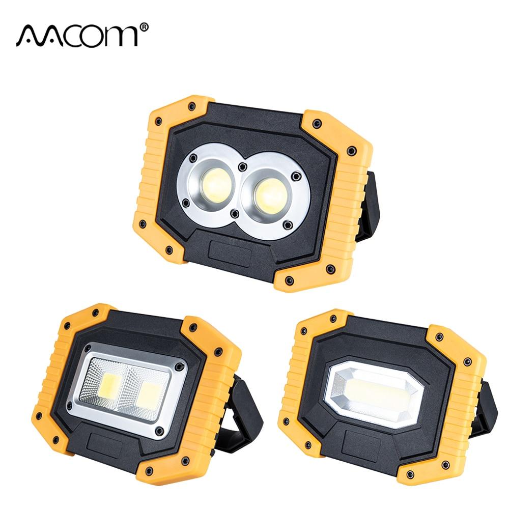 30W COB LED Floodlight 3 Modes 5V USB Rechargeable Reflector Spotlight Portable LED Working Lights Handheld Spotlight