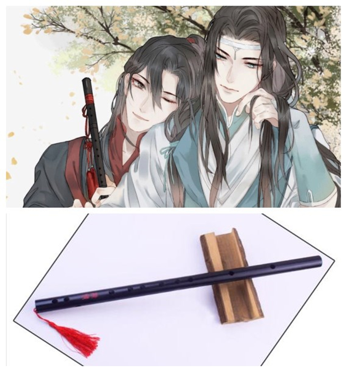 Grandmaster of Demonic Cultivation Wei Wuxian Flute Cosplay Props The Founder of Diabolism Chenqing Flute Musical Instrument marking tools