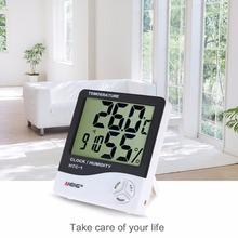 Indoor LCD font b Electronic b font Temperature Humidity Meter Digital Thermometer Hygrometer Weather Station Temperature