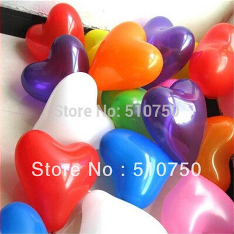 ФОТО wholesale 30p 10inch heart shape balloon latex balloons helium balloon birthday wedding party decoration mixed color