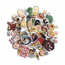 TD ZW pegatinas de Anime japonés ONE PUNCH para coche, portátil, teléfono, monopatín, motocicleta, pegatina de dibujos animados, lote de 50 unidades
