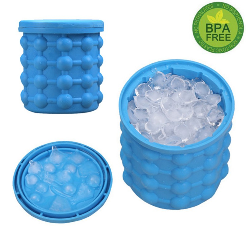 New Silicone Rubber Ice Cube Maker Genie The Revolutionary Space Saving Ice Cube Maker Ice Genie Kitchen Tools