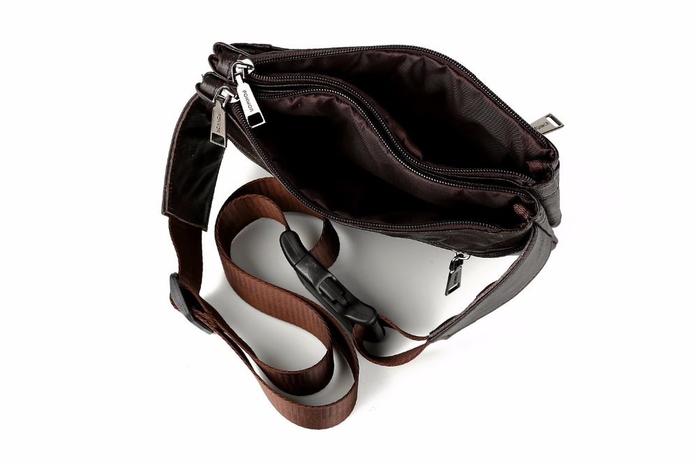 Topdudes.com - Casual PU Leather Waist Phone Pouch