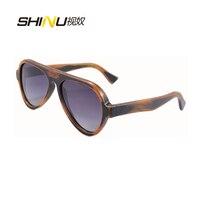 2014 New Arrival Season Men Women Sunglasses Free Shipping Bamboo Stain Frame Sky Blue Lens 6068bb
