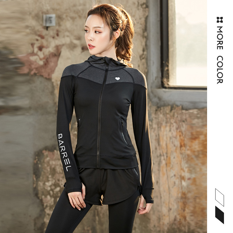 Spring And Autumn New Long Sleeve Pants Yoga Suit For Women High Elastic Sweat Sweating Sports