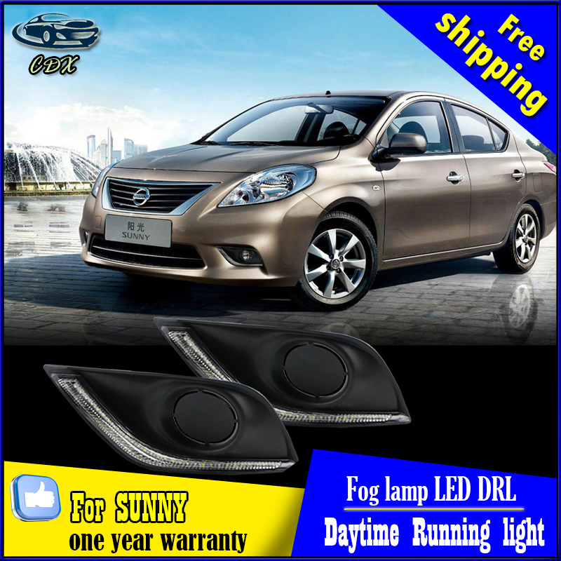 led drl daytime running light for nissan versa sunny 2014-2015, Accessories, with yellow turn signal and blue night light led fog lamp drl daytime running light for nissan sunny versa drl car driving light 2014 2015 new