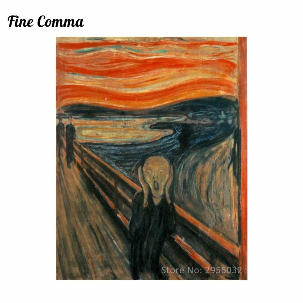The Scream 1893 oleh Edvard Munch Kanvas Lukisan Wall Art Gambar - Dekorasi rumah - Foto 1