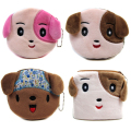 2017 Cute Dog Plush Purses Women Coin Wallets Female Coin Storage Pouch Children Mini Cartoon Bags Free Shipping