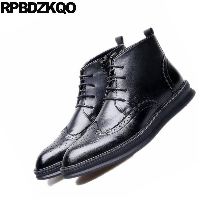 Aumento Altura Ala Zapatos Ascensor Elevator Oxfords Oculto De Boda red Oxford Oficina Black Hombres Punta Formal black Elevator Los Negro Vestido Derby Negocios red qp4840