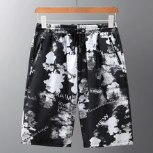 Большие размеры быстросохнущих пляжных брюк с песком, мужские брюки для отдыха, 5 минут, большой тонкий дизайн и шорты
