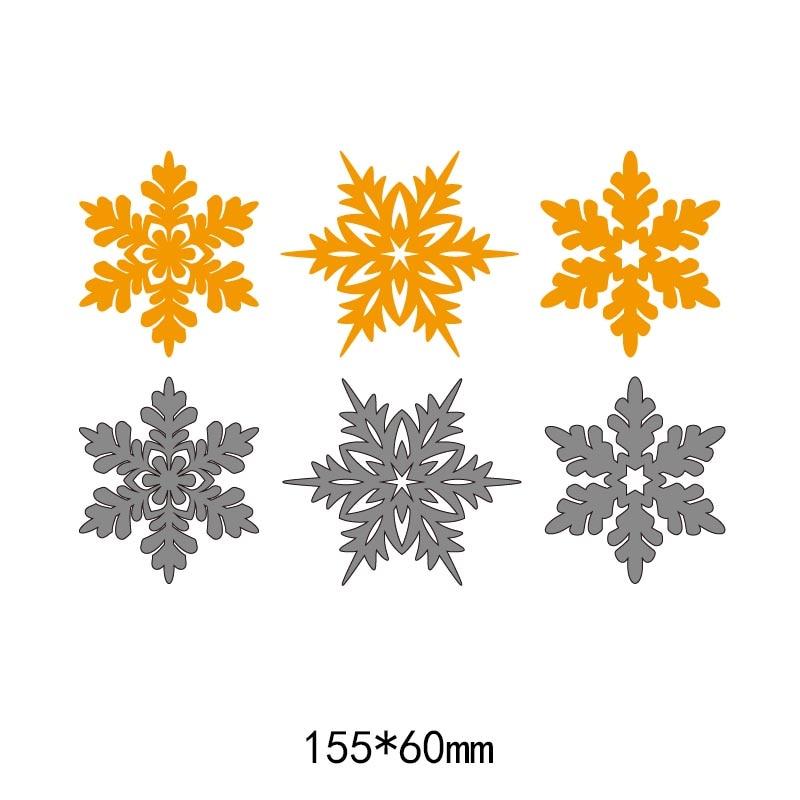 3 pcs floco de neve padrão de quadros de metal corte de aço morre Morre Estêncil para cartão De Corte Do Cartão DIY Papel Álbum de Scrapbook Artesanato