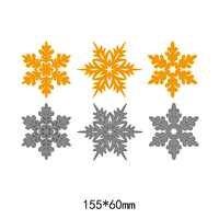 3pcs snowflake pattern frames metal steel cut dies DIY Scrapbook Album Paper Card Cutting Dies Stencil for card Crafts