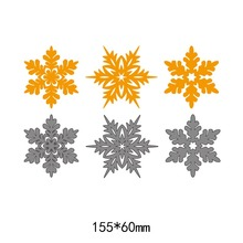 3pcs snowflake pattern frames metal steel cut dies DIY Scrapbook Album Paper Card Cutting Dies Stencil for card Crafts