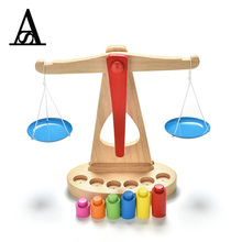 1 Set Kitchen Toy Professional Montessori Materials Wooden Scale Development Center To Promote Children Balance Simulation Tool