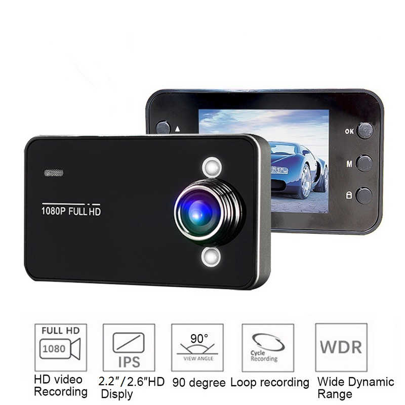 TOSPRA Full HD 1080P DVR Câmera Do Carro 2.2/2.6in Registratory Windshield Dash Cam Recorder night vision Camcorder