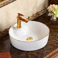 High grade ceramic home hotel bathroom tub art basin round above counter basin wash basin LO622253
