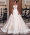 Vestido De Noiva 2016 Ball Gown Wedding Dresses Sweetheart with Sheer Tulle Jacket Sexy Wedding Gowns Beading Bride Dresses