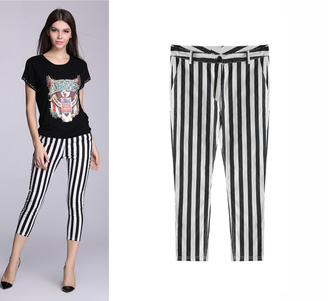 8fbed31d5c0 Hot selling palazzo pants women black striped soft plus size 6xl office  capris clothing lift hips summer style american apparel