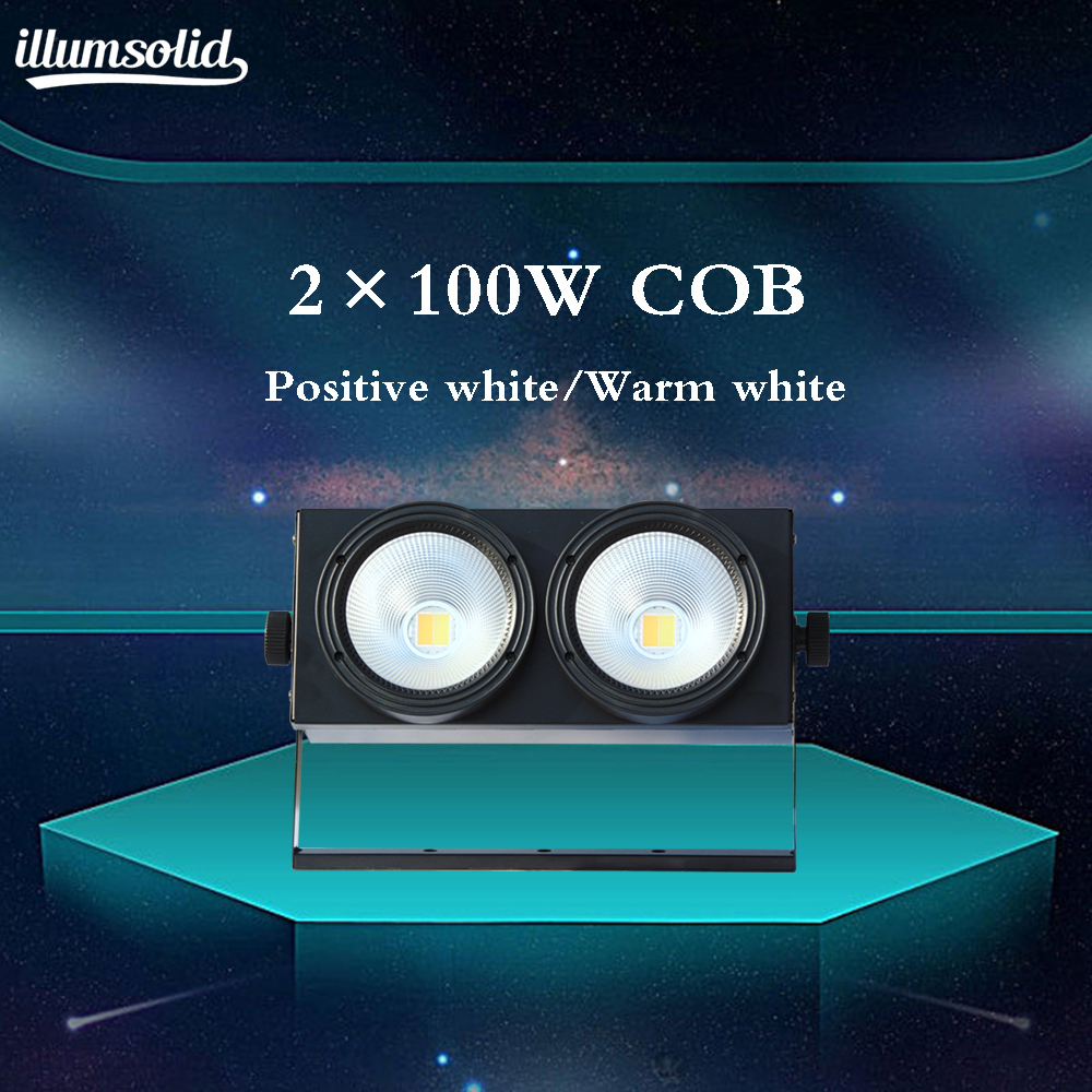2x100w COB DMX Stage Lighting Led Blinder Warm White Dmx Stage TV Studio Church