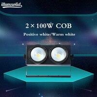 2x100w COB DMX Stage Lighting Led Blinder / Warm White Dmx Stage TV Studio Church