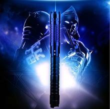 Big sale High Power Blue Laser Pointer 500000mw 450nm SOS Lumen Focusable Burning Lazer Pen Burn Paper Lit Cigarette Cutting+5 Caps+Gift