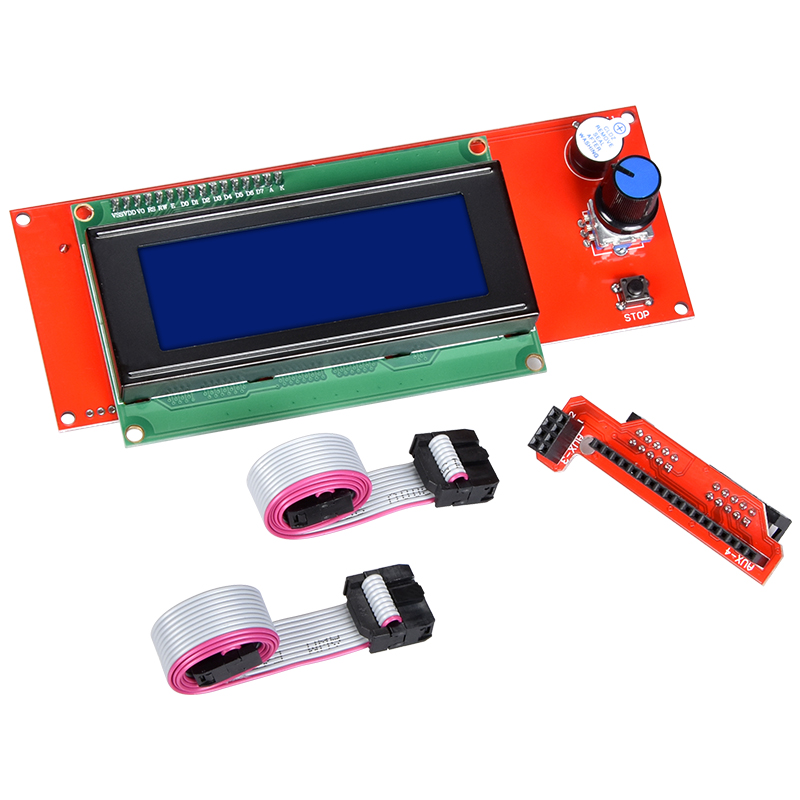 3D Printer Parts 2004 LCD Display With Adapter 3D Printer Reprap Smart Controller Compatible With Ramps 1.4 1.5 1.6 Mainboard цена 2017