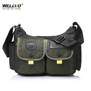 Image 1 - Men Army Messenger Bag Waterproof Nylon Satchel Shoulder Bag Casual Travel Crossbody Bags For Male Belt Handbag Man XA167ZC