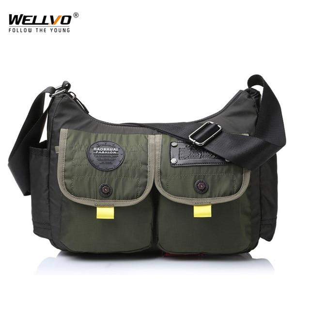 Men Army Messenger Bag Waterproof Nylon Satchel Shoulder Bag Casual Travel Crossbody Bags For Male Belt Handbag Man XA167ZC