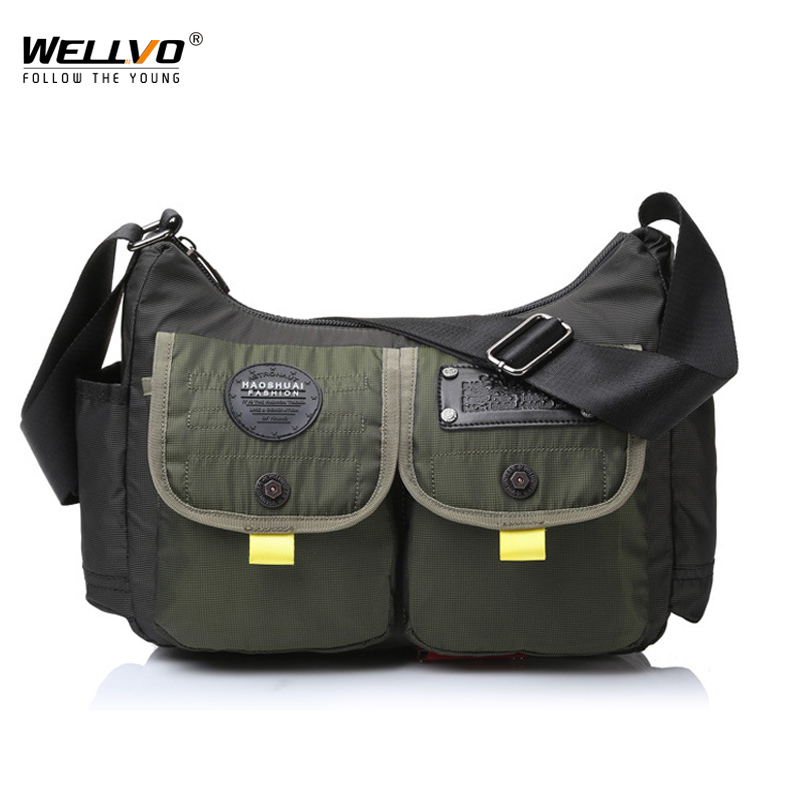 Men Military Messenger Bag Waterproof Nylon Satchel Shoulder Bag Casual Travel Crossbody Bags For Male Belt Handbag XA167ZC
