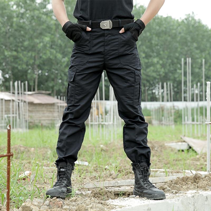 Pantalon Cargo noir armée militaire tactique pantalon hommes travail plafones Combat SWAT tactique vêtements Camo salopette décontracté pantalon