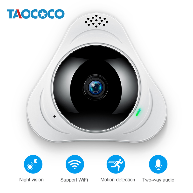 TAOCOCO 360 Degree Panoramic IP Network Camera 960P HD WiFi Wireless Camera Infrared Night Vision Fisheye Home Security CameraTAOCOCO 360 Degree Panoramic IP Network Camera 960P HD WiFi Wireless Camera Infrared Night Vision Fisheye Home Security Camera