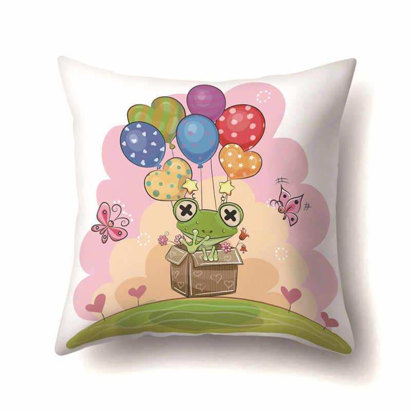 45x45 cm Unicorn Yastık Kılıfı Unicorn Parti Malzemeleri Pamuk minder örtüsü Kanepe Bebek Duş Çocuk doğum günü hediyesi