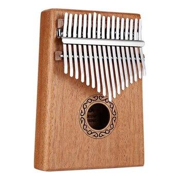 17 Dedo Alcanfor Piano Kalimba Gecko Instrumento Música Madera Thumb Clave De Percusión bf6vIY7gy