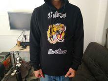 100% хлопок вышивка тигр толстовка Young модные брендовые свободные Sweatershirt новый дизайн с капюшоном пуловер